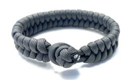 Armband gevlochten paracord grijs