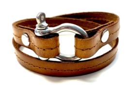 Armband harpsluiting cognac