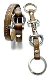 Armband harpsluiting taupe