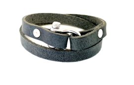 Armband harpsluiting grijs