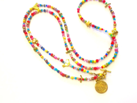 Ketting lang multicolor