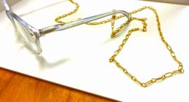 Brillenkoord  schakel goud