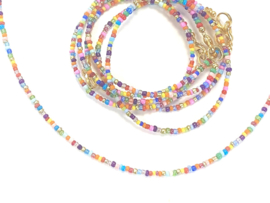 Ketting rocaille multicolor