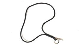 Keycord gevlochten leer zwart