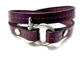 Armband harpsluiting plum