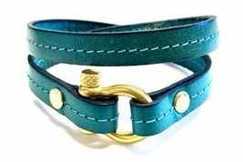 Armband turquoise harpsluiting goud
