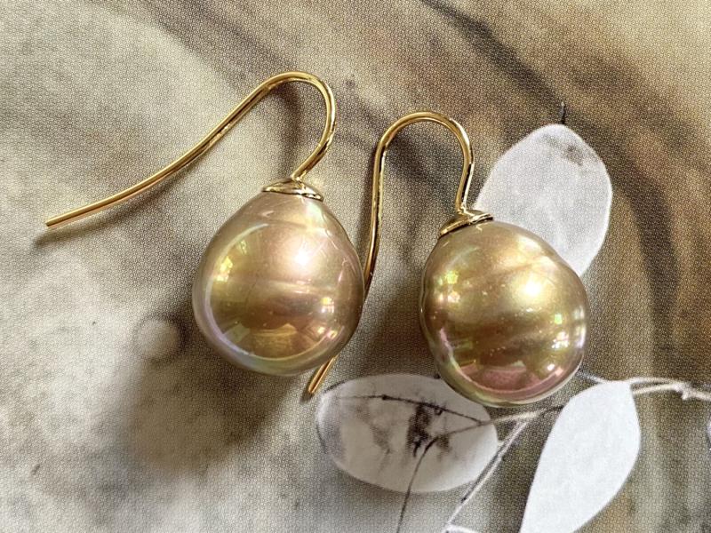 Vermeer parel oorbellen goud/goud
