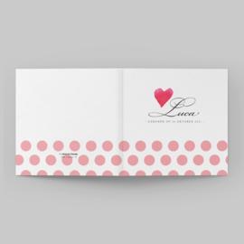 Romantisch kaartje met hartje