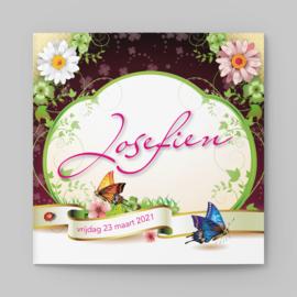 Lente, bloemen en vlinders