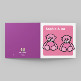 Roze beren tweeling