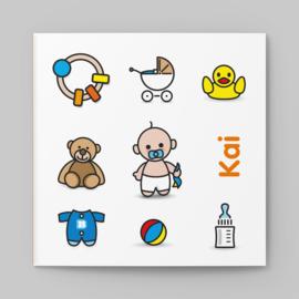 Speelgoed, knuffel en badeend