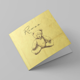Geboortekaartje vintage Knuffelbeer