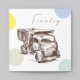 Geboortekaartje vintage Vrachtwagen