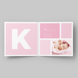 Geboortekaartje Letterkaart