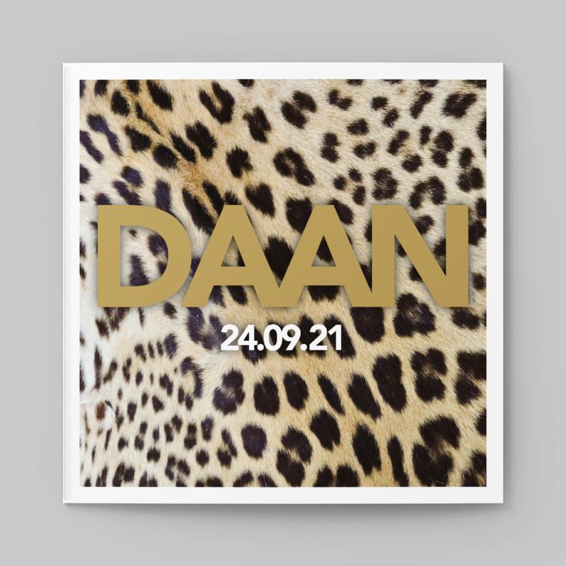 Stoere Stoere luipaard kaart