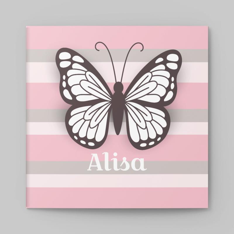 Hippe streep en vlinder