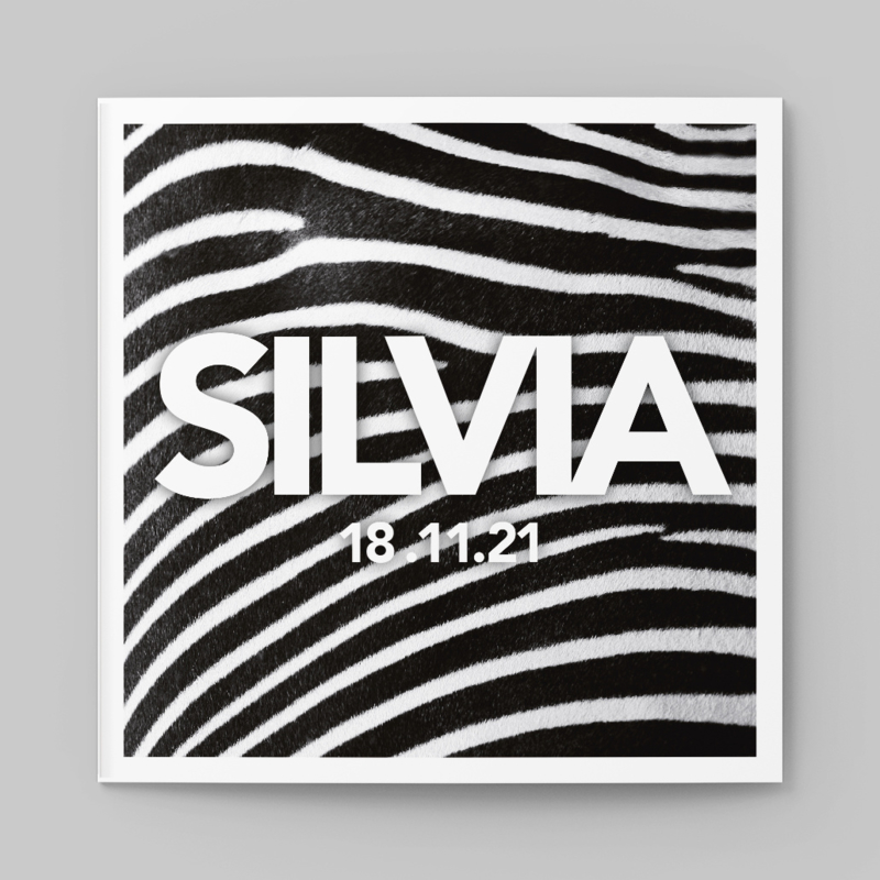 Geboortekaartje Zebra