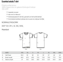 T-shirt Monstera - zwart