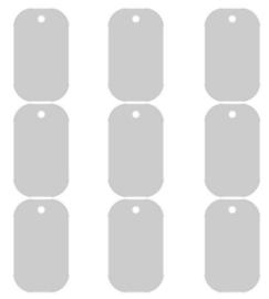 Aluminium ID Tag 30x50mm