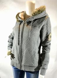 Sweater met rits - HV Polo - Grijs