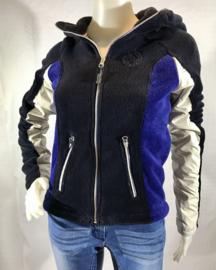 Sweater met rits - Kingsland - Blauw fleece - Maat XXXS