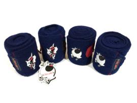 Set Bandages Jack Lami - Navy Rood - Pony