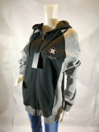 Sweater met rits - Kingsland - Zwart/Grijs