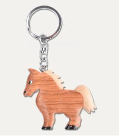 Sleutelhanger paardje hout