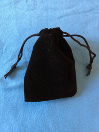 Fluweel zwart zakje