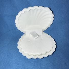 Witte fluweel Shell schelp