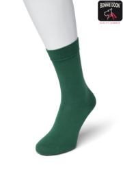 Bonnie Doon Cotton Sock Bottle Green Dames