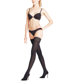 Falke Pure Matt Stay- Up 50 Denier Black