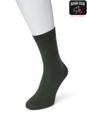Bonnie Doon Cotton Sock Dark Green Dames