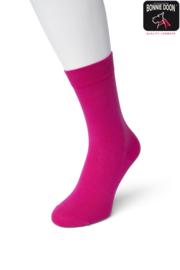 Bonnie Doon Cotton Sock Fuchsia Dames