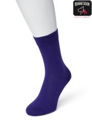 Bonnie Doon Cotton Sock Dark Purple Dames