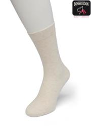 Bonnie Doon Cotton Sock Ecru Heather Dames