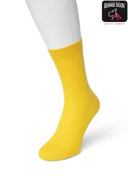 Bonnie Doon Cotton Sock Yellow Dames