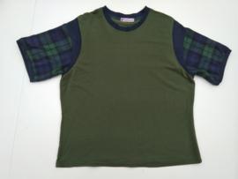 Blauw groen shirt, mt. XL