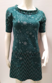 Knit print dress, mt.S