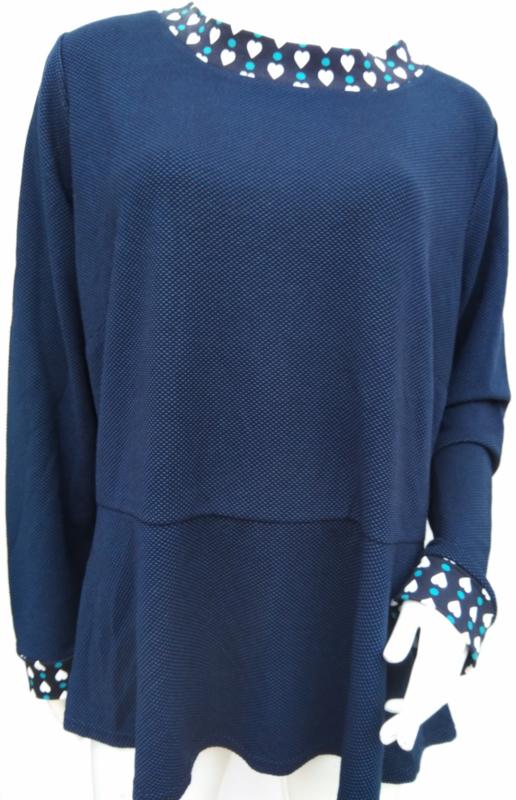 Blauw tuniek, mt. XL