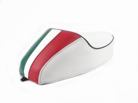 Zadel Mono Tricolore Vespa ET3 / V50 / 50N / V90 / Primavera (PV) 125 - wit