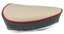 Oldtimer model Puch - grijs/crème met rode bies