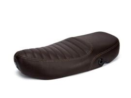 Zadel Vespa ET4 - origineel product - bruin, extra gestikt