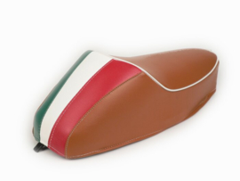 Zadel Mono Tricolore Vespa ET3 / V50 / 50N / V90 / Primavera (PV) 125 - bruin
