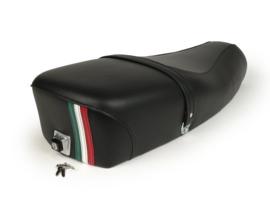 Zadel Vespa PX Elite tricolore - zwart
