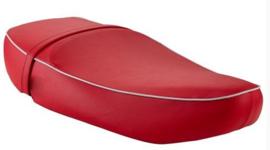 Zadel Vespa ET4 - origineel product - rood met lichtgrijze bies - lange versie