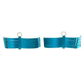 Vier strap been bondage aqua/ FYM