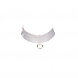 Choker/collar diverse kleuren met gouden ring / FYM