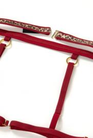 Ewa Bien - Leopard - Jarretel-gordel met straps