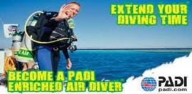 PADI Nitrox Specialty, versie Zilver (praktijk les + brevet)